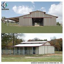 Cattle Barns Designs Prefabricated Horse Barns Design Steel Structure Cow Farm