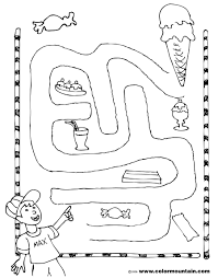 icecream activity coloring maze create a printout or activity