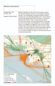 Los Angeles Airport Map by Aircraft Traffic Flow At Lax