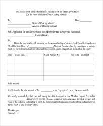 Transfer Request Letter In Bank 79 request letter sles free premium templates