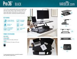 adjustable height desk pro series varidesk standing desks