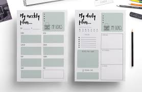 daily planner templates weekly planner daily planner stationery templates creative weekly planner daily planner stationery templates creative market