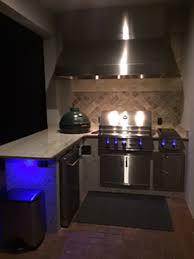 Outdoor Kitchen Lighting Creative Outdoor Kitchens Outdoor Kitchen Featuring Light Granite