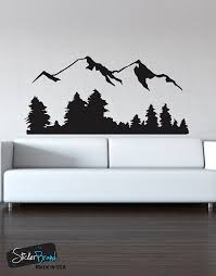 Vinyl Wall Decals Amazon Com Stickerbrand Landscapes Vinyl Wall Art Snowy Mountain
