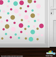 purple yellow turquoise polka dot circles wall decals decal