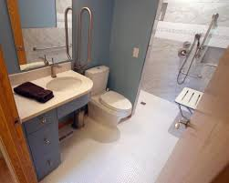 handicap bathroom designs remodeled bath in bloomington brings accessible design in tight