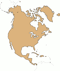 north america political blank map north america outline map south