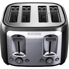 Toaster Brands Black Decker 4 Slice Multi Function Toaster Bagel Toaster Black