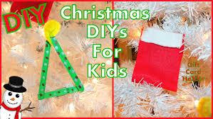 diy kids christmas crafts diy gift card holder u0026 tree ornament