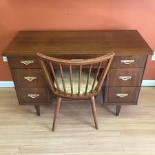 Bassett Writing Desk Mid Century Modern Walnut Desk By Bassett Furniture Epoch