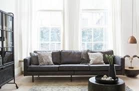 sofa 3 sitzer leder sofa 3 sitzer recyceltes leder rodeo schwarz sofas sofas