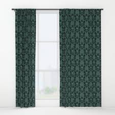 Teal Damask Curtains Damask Window Curtains Society6