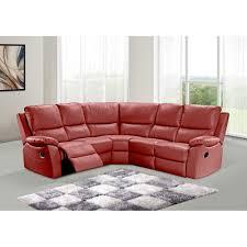 Cameo Manual Action Reclining Corner Sofa In Ivory Cream Bonded - Cameo sofa
