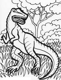 simple dinosaur coloring pages for kids printable about free