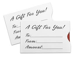 gift card sleeves gift card sleeve white 100 pack office products