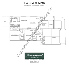 tamarack floor plans tamarack floor plan blackstead building co