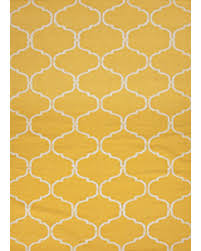 Area Rugs From India Sale Flat Weave Moroccan Pattern Yellow Ivory Wool Area Rug