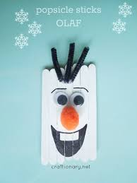 popsicle sticks olaf frozen snowman frozen popsicles and olaf