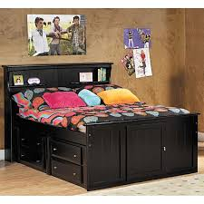 Bookcase Bed Frame Laguna Twin Bookcase Bed With Underbed Storage Bc Tcapt