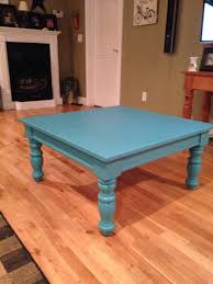 Refurbished End Tables by Broyhill Fontana Table Painted Turquoise For A Beachy Look