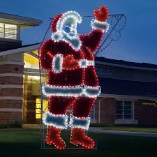 Christmas Decorations Outdoor by Shop Holiday Lighting Specialists 17 Ft Animated Waving Santa
