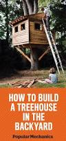 How To Build A Simple Wood Shed by How To Build A Treehouse For Your Backyard Diy Tree House Plans