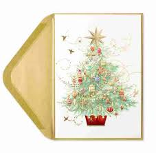 embellished tree greeting cards papyrus