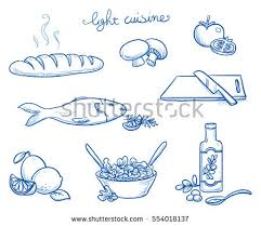 cuisine as icon set different food cooking objects เวกเตอร สต อก 554018137