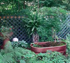 Garden Wall Troughs by Repurposed Galvanized Cattle Trough Painted Copper Great Focal