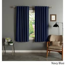 Insulated Curtains Home Solid Insulated Thermal Blackout 63 Inch Curtain Panel
