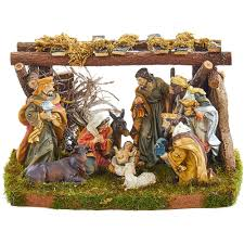 home interior jesus figurines kurt adler nativity set with 9 figures and stable n0282 the home