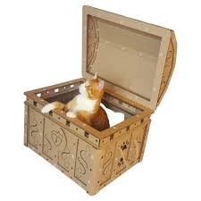 dead man u0027s chest cardboard cat house unique cat furniture cat toy