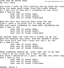 phil ochs song just one of those days phil ochs lyrics