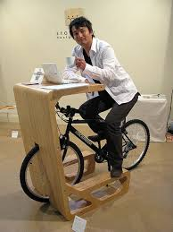 Diy Bike Desk Bike Stand Creative Ideas Source Pinterest Desks Office