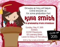 kindergarten graduation invitations preschool kindergarten graduation tea party invitation
