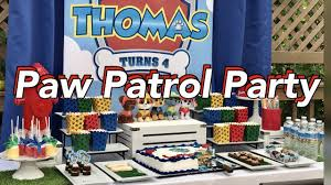 paw patrol candy table ideas paw patrol birthday party paw patrol theme dessert table youtube