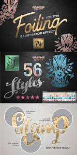 vector foiling illustrator effect layer styles creative market