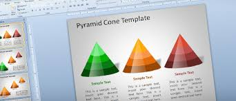 pyramid cone template for powerpoint using shapes