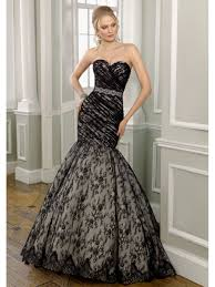 mermaid black wedding dress fashion fuz