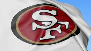 Flag Football San Francisco Close Up Of Waving Flag With San Francisco 49ers Nfl American