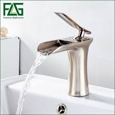 flg basin faucet fountain bathroom tub waterfall faucet single