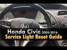 2006 honda civic service schedule honda civic service light reset 2006 2016