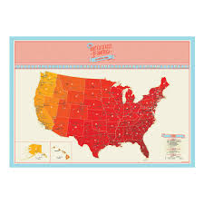 United States Map Poster by Scratch Map Usa