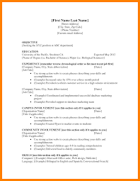 Doc 600600 Resume Action Words by Resume Format First Job Cerescoffee Co