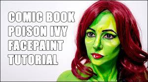 Halloween Makeup Comic Poison Ivy Cel Shaded Comic Book Style Halloween Makeup Tutorial