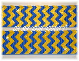 blue and gold ribbon chevron ribbon royal yellow gold stripe ribbon royal stripe