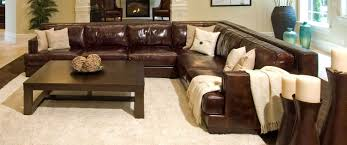 Rustic Sectional Sofas Elements Fine Home Furnishings Easton Top Grain Leather Sectional