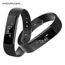 activity monitoring bracelet images Mafam id115 fitness tracker activity activity monitor band alarm jpg