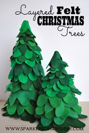 layered felt christmas trees sparkles of sunshine