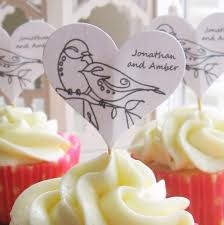 custom cupcake toppers bird cupcake toppers 24 custom cupcake toppers